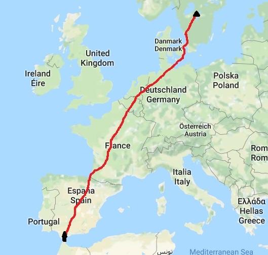 Rutten genom Europa