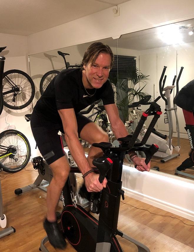 Stefan på wattbike